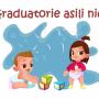 disegno di due bambini con i giorni e in alto scritta rossa su fondo bianco graduatorie asili nido